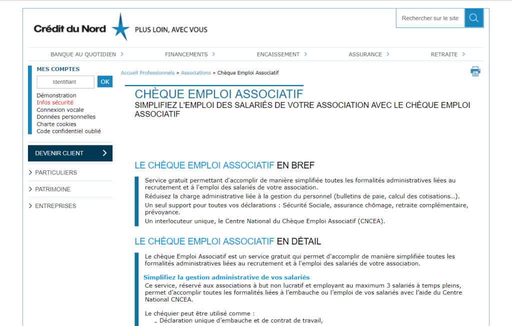 cheque emploi associatif